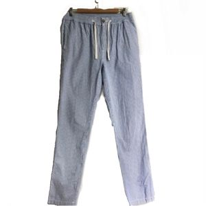 MEN J.CREW Blue & White Strippes Pull On Pants